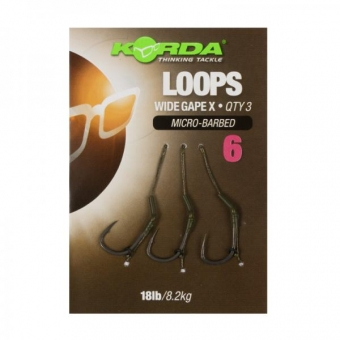 Korda Wide Gape X Loops Ready Tied Rigs